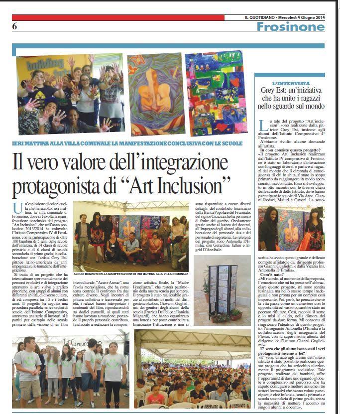 Articolo da Il Quotidiano Frosinone 04.06.14