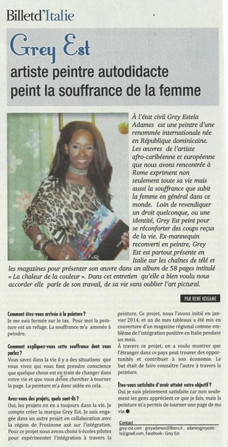Intervista della rivista francese Amina